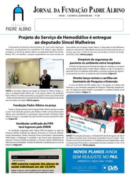 Agosto/2015 - Fundação Padre Albino
