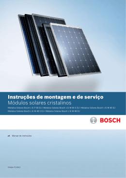 Instruções de montagem e de serviço Módulos solares cristalinos
