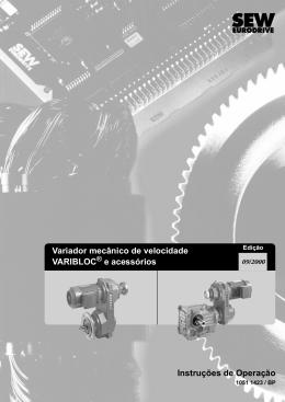 Variador mecânico de velocidade VARIBLOC - Sew
