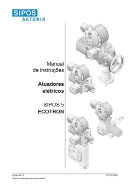 Manual de instruções Atuadores elétricos SIPOS 5 ECOTRON