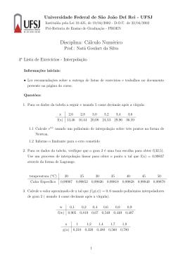 d) Interpolação Numérica