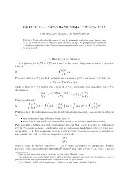 Notas de aula 21 - Departamento de Matemática