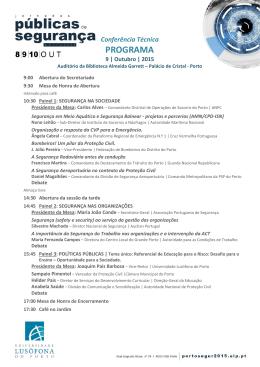 JORNADAS PUBLICAS DE SEGURANÇA PORTO 2015