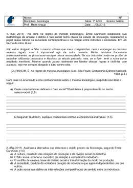 1º ANO Ensino: Médio. Prof. Rene Araujo Data: __/06/2015 1.