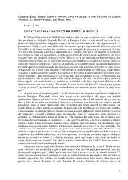 1 Cassirer, Ernst. Ensaio Sobre o Homem. Uma Introdução a