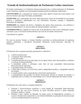 Tratado de Institucionalização do Parlamento Latino
