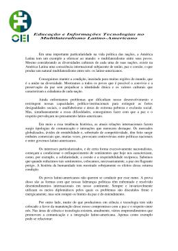 Educação e Informações Tecnologias no Multilateralismo Latino