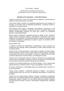Clique aqui para ler o manifesto da Frente Brasil Popular
