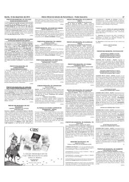Recife, 18 de dezembro de 2013 Diário Oficial do Estado de