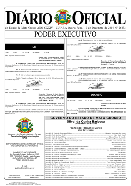 Diário Oficial - CASA DOS CONCURSOS CUIABÁ