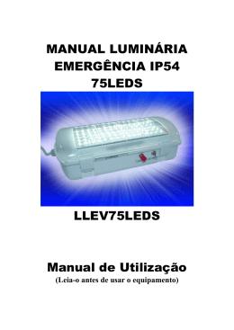 MANUAL LUMINÁRIA EMERGÊNCIA IP54 75LEDS