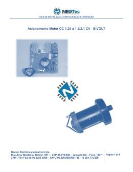 4) Placa acionamento esteira NT1.25, NT1.6, NT 2.1 Bivolt