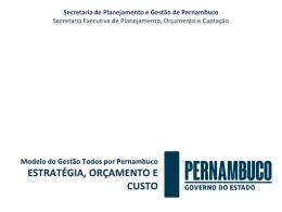 Sistema de Custos do estado de Pernambuco