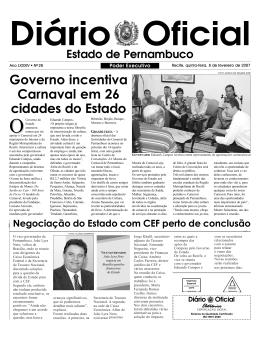 Governo incentiva Carnaval em 26 cidades do Estado