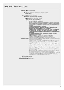 Detalhe de Oferta de Emprego
