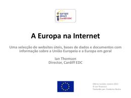 A Europa na Internet