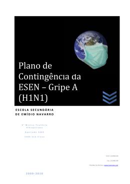 Plano de Contingência da ESEN – Gripe A (H1N1)
