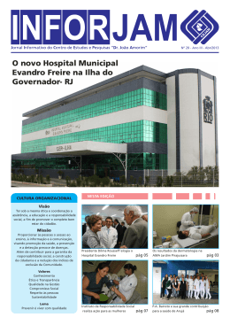O novo Hospital Municipal Evandro Freire na Ilha do