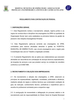HOSPITAL MUNICIPAL DE SIMÕES FILHO / ASSOCIAÇÃO DE