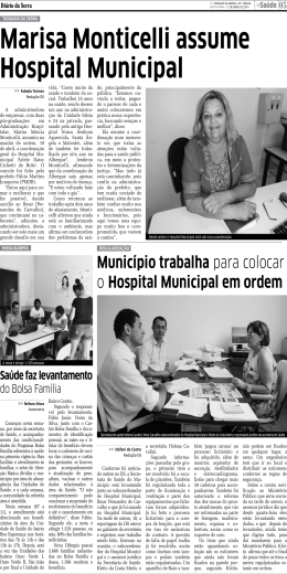 Marisa Monticelli assume Hospital Municipal
