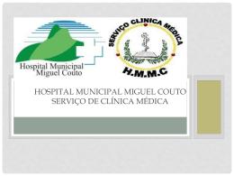 hospital municipal miguel couto serviço de clínica médica