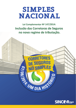 Cartilha do Simples Nacional para Corretores de Seguros - Sincor-SP