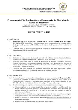 edital pppg nº. 61/2015 - Universidade Federal do Maranhão