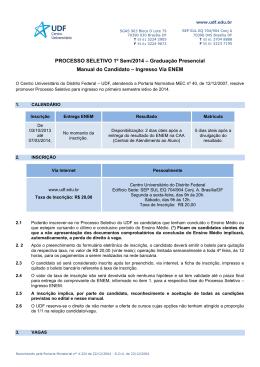 PROCESSO SELETIVO 1º Sem/2014 – Graduação Presencial