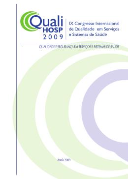 IX Congresso Internacional de em Serviços e Sistemas de