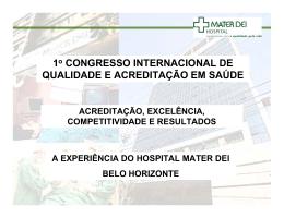1o CONGRESSO INTERNACIONAL DE QUALIDADE E