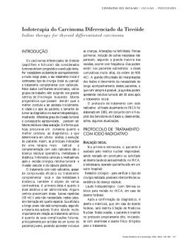 Iodoterapia do Carcinoma Diferenciado da Tireóide