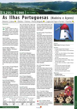 As Ilhas Portuguesas (Madeira e Açores)