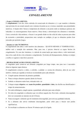 CONGELAMENTO - Portal Atividade Rural