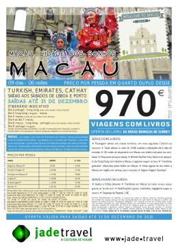 Macau, A Cidade dos Sonhos