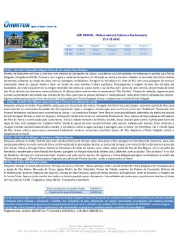 SÃO MIGUEL – Beleza natural, Cultura e Gastronomia 25