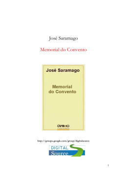 José Saramago - Memorial do Convento (rev)