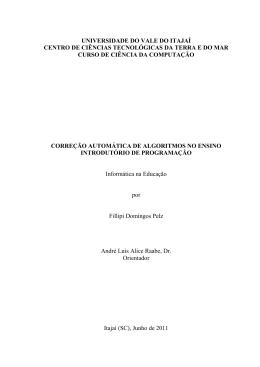 Modelo de TCC para o Curso de Ciência da Computação da UNIVALI