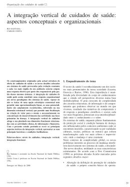 A integração vertical de cuidados de saúde: aspectos conceptuais e