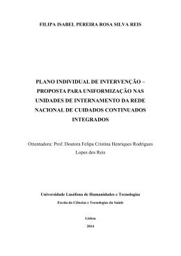 Dissertação MCCI - Filipa Reis