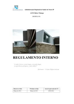 Regulamento Interno 2013