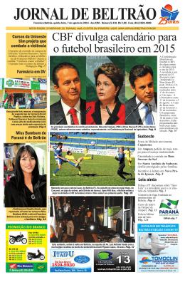 CBF divulga calendário para o futebol brasileiro