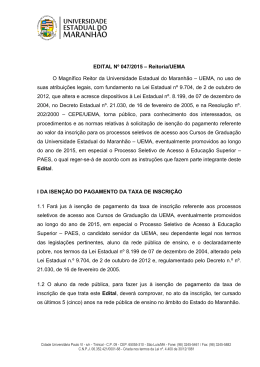 EDITAL ISENÇÃO 06.04