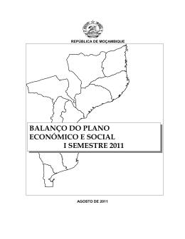 BALANÇO DO PLANO ECONÓMICO E SOCIAL I SEMESTRE 2011