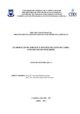 ALINE SILVA - Unidade Acadêmica de Engenharia Agrícola