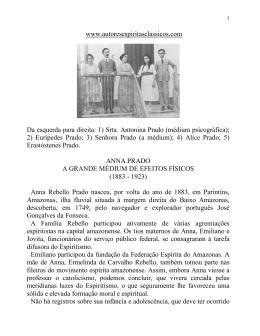 www.autoresespiritasclassicos.com Da esquerda para direita: 1