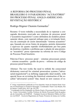 do processo penal anglo
