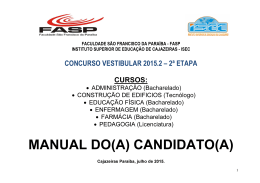 MANUAL DO(A) CANDIDATO(A)