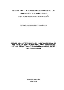 HENRIQUE RODRIGUES DE ALMEIDA ESTUDO DO