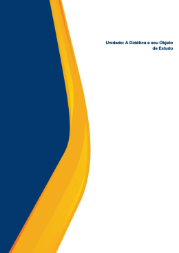 Unidade: A Didática e seu Objeto de Estudo