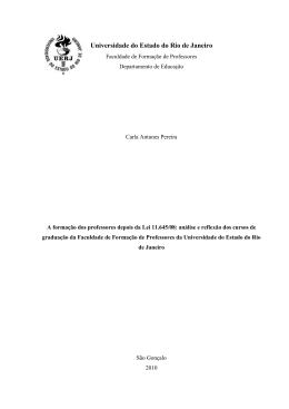 CAP.2.2010 - Faculdade de Formação de Professores